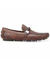 Brown Calf ~ Leather Slip On Shoe