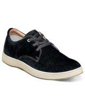 EK326 Mens Lace Up Suede ~ Nubuck Black Shoe