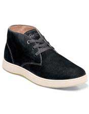 EK330 Mens Black Suede ~ Nubuck Lace Up Shoe