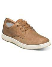 EK331 Mens Lace Up Tan ~ Cognac Shoe Suede