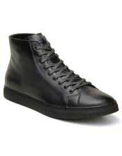 Mens Black Lace Up