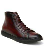 EK335 Mens Lace Up Burgundy Shoe