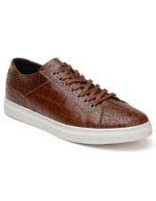 EK336 Mens Lace Up Brown Shoe