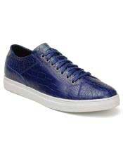 Mens Blue Lace Up
