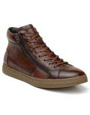EK342 Mens Cognac Lace Up Shoe