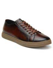 mens Lace Up Cognac Shoe