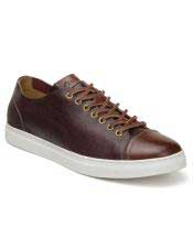 EK346 Mens Burg ~ Cognac Lace Up Shoe