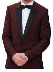 JA661 Mens Ryan Gosling Burgundy Tuxedo