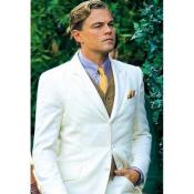 JA666 Mens Leonardo Dicaprio off White The Great Gatsby