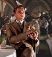 JA667 Mens Great Gatsby Leonardo Dicaprio Brown Suit