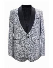 JA671 Cheap Mens Printed Unique Patterned Print Floral Tuxedo