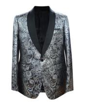 JA675 Cheap Mens Printed Unique Patterned Print Floral Tuxedo