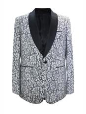 JA681 Cheap Mens Printed Unique Patterned Print Floral Tuxedo