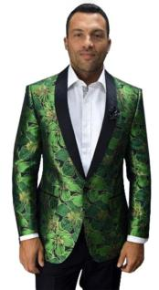 JA682 Cheap Mens Printed Unique Patterned Print Floral Tuxedo