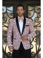 JA684 Cheap Mens Printed Unique Patterned Print Floral Tuxedo