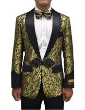 JA688 Cheap Mens Printed Unique Patterned Print Floral Tuxedo
