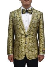 JA690 Cheap Mens Printed Unique Patterned Print Floral Tuxedo