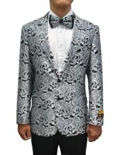 JA692 Cheap Mens Printed Unique Patterned Print Floral Tuxedo