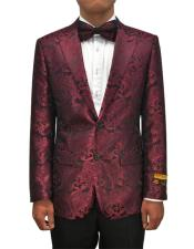 JA696 Cheap Mens Printed Unique Patterned Print Floral Tuxedo