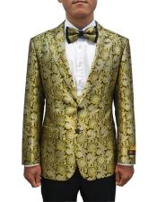 JA697 Cheap Mens Printed Unique Patterned Print Floral Tuxedo