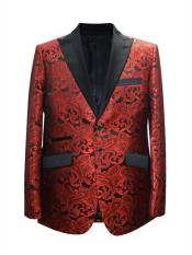 JA698 Cheap Mens Printed Unique Patterned Print Floral Tuxedo