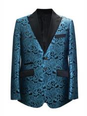 JA701 Cheap Mens Printed Unique Patterned Print Floral Tuxedo
