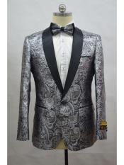 JA709 Cheap Mens Printed Unique Patterned Print Floral Tuxedo