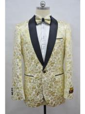 JA710 Cheap Mens Printed Unique Patterned Print Floral Tuxedo