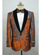 JA713 Cheap Mens Printed Unique Patterned Print Floral Tuxedo