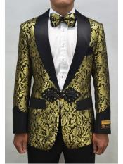 JA727 Cheap Mens Printed Unique Patterned Print Floral Tuxedo