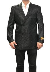 mens Fancy Paisley Floral Black