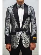 Alberto Nardoni PXR-Smoking-2Smoking Cocktail Dinner Jacket Shawl Collar Floral