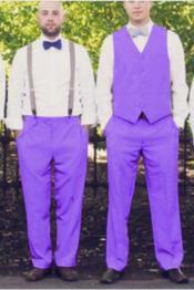 mens Suit Vest Lavender