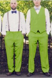 JA750 Mens Suit for Men Vest Apple Green