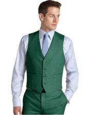JA762 Mens Suit for Men Vest Augusta Green