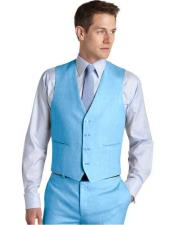 JA763 Mens Suit Vest Sky Blue