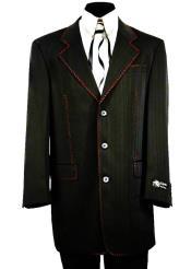 JA782 Citywalker Designer Matte Stitched 2pc Zoot Suit Set