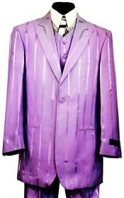 JA782 Reflective Stripes 3pc Zoot Suit Set - Lilac