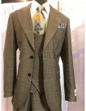 mens Brown Two Button Single