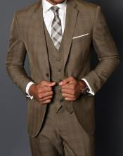 JA794 Statement Vested 3 Piece 100% Wool Suit -