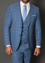 JA796 Statement Vested 3 Piece 100% Wool Suit -