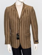 Mens Fashion Sport Coat - Chenille Twill Stripe