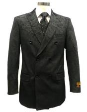 Mens Black Double Breasted Blazer -
