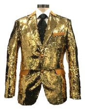 Reversible Sequin Silver & Gold Blazer ~ Suit Jacket