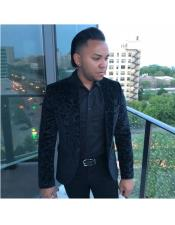 One Button Single Breasted Black Blazer