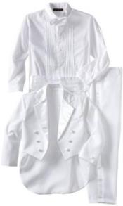 Womens Double Breasted Peak Lapel White 1920s Tuxedo Style