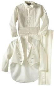 Womens Double Breasted Peak Lapel Off White 1920s Tuxedo