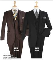 Mens Pure White or Navy Blue 100% Wool Vested
