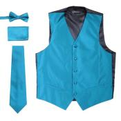 Mens 4PC Big and Tall Vest & Tie &