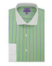 BENTLEY-A24GRNS32#SpreadCollarSlimFitDressShirtCotton